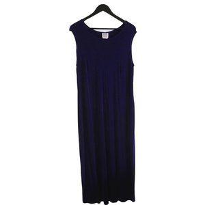 Vintage Maxi Sleeveless Purple Flowy Dress
